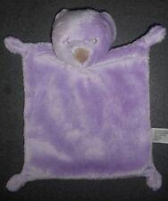 Doudou Plat Ours Mauve Violet Nez Crème Simba Toys Benelux Nicotoy Kiabi TBE