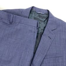 Brooks Brothers Men's Fitzgerald BrooksCool Full Canvas Suit Blue • 46 R | 36x29