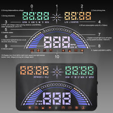 "Universal 5.8"" Car HUD Head Up Display GPS OBD2 OBDII Speed Warning Alarm"