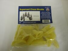 9 x SUPERCAST REF 0004 LEWIS 1 CHESS SET LATEX MOULDS MOLDS MOULDS