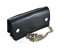 Leather Biker Wallet with long  Chain ID Card Holder Money Compartment