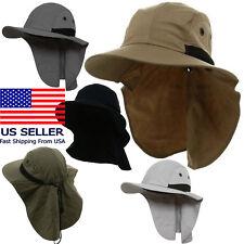 96e8b38b Juniper 4 Panel Safari Wide Brim Neck Flap Cap Hat Sun Protection Outdoor  Bucket