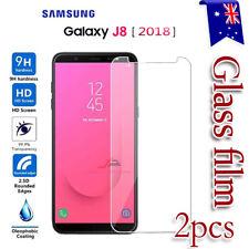 2X Samsung Galaxy J8 / J8 2018 Tempered Glass / Plastic Screen Protector Film