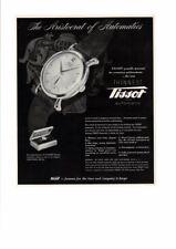 VINTAGE 1941 TISSOT AUTOMATIC WATCHES ARISTOCRAT ELEGANT THINNEST AD PRINT