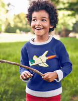 Boden Glowing Space Sweatshirt Navy Age 3-4 Years rrp £30 DH172 ii 06