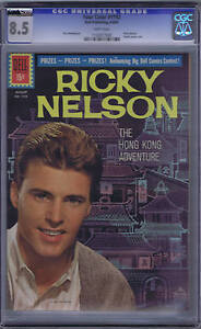 Ricky Nelson Hong Kong Adventure F.C. #1192 Dell 1961 CGC 8.5 (VERY FINE +)