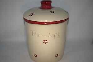 5 Liter Rumtopf Rubin grade, handbemalt, Steinzeug, Sonderaktion 2021
