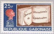 Gabon Gabon 1968 312 231 Intl.. Literacy Day UNESCO Book Book Child Pupil MNH