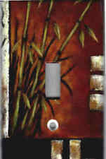 ASIAN BAMBOO - ASIAN HOME WALL DECOR SINGLE LIGHT SWITCH PLATE COVER