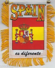 Spain Espana Flag Hanging Car Pennant for Car Window or Rearview Mirror *