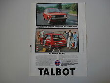 advertising Pubblicità 1980 TALBOT SIMCA SUNBEAM