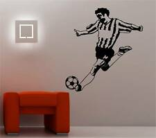 HUGE FOOTBALLER wall art sticker vinyl BEDROOM KIDS