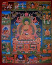 Tibetan Thangka Poster for Dharma Practice LIFE OF BUDDHA