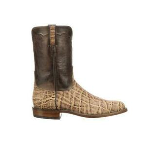 LUCCHESE KINGSLEY RARE exotic leather western roper boots 11D, READ DESCRIPTION!