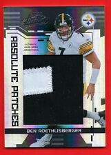BEN ROETHLISBERGER 2006 PLAYOFF ABSOLUTE PATCHES BLACK 2CLR #D /15 SSP STEELERS