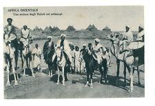 AFRICA ORIENTALE UNO SCEICCO DEGLI HABAB COI SOTTOCAPI ERITREA COLONIE D'ITALIA