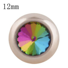 SMALL SNAP * ROSE GOLD * COLORFUL 12mm Snap Interchangeable Fit Ginger Snap