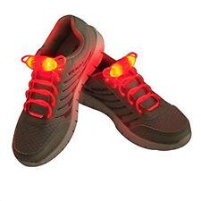 Light-Up LED Orange Waterproof Shoelaces - 3 Modes (On, Strobe & Flashing)