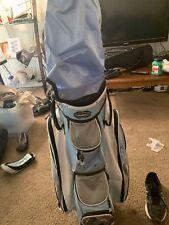 Adams Idea  Womens Golf 7 Way Cart Bag Light Blue  Rain Cover