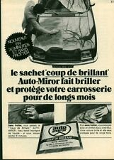 Publicité ancienne voiture AUTO-MIROR 1971 issue de magazine