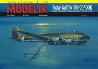"GENUINE PAPER-CARD MODEL KIT - Focke Wulf Fw-200 ""CONDOR"" A3 Format"