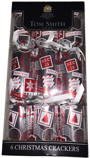 "Tom Smith Silver/ Red ""Winter Wishes Dec 25 "" Christmas Crackers - 6 X 12"""