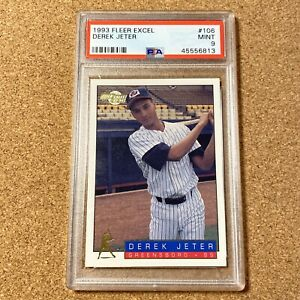 Derek Jeter Rookie Card 1993 Fleer Excel #106 PSA 9 Minor League Investment Card