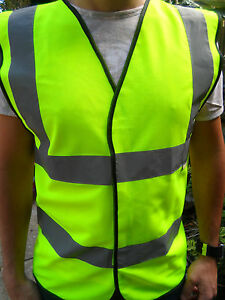 Pack of 10 Hi Vis Adults Waistcoat Vest Sizes M to 4XL
