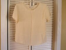 Ann Taylor Cream 100% Silk Blouse Shirt Top Shell Easy Wear Women's Size S