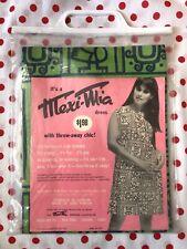 Vintage 1960s/60s Mexi-Mia MOD Mayan Paper Dress NOS Original Package