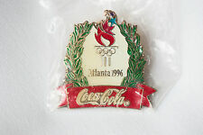 Atlanta 1996 Olympic Pin Coca Cola Christmas Wreath with Torch