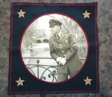 Elvis Army In Germany At Bridge 8 x 8 Quilt Fabric  Cranston  RARE  SPECIAL SALE