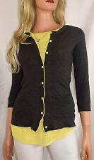 THEORY Lemon Kissed Shrunken Cardigan Sweater  Size Small/Petite