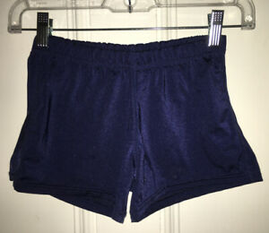 GAME GEAR Women's Juniors Sz MD Navy Blue Athletic Compression Shorts Waist 22""