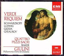GIULINI: VERDI REQUIEM Schwarzkopf Christa Ludwig Gedda Janet Baker Ghiaurov 2CD