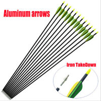 "10x 32"" EXTRA HEAVY DUTY ALUMINIUM ARROWS FOR COMPOUND AND RECURVE BOW ARCHERY G"