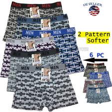 Lot 6 Pack Mens Cotton Boxer Briefs Underwear Compression Stretch Sport
