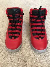 quality design 5f314 1bb23 Jordan 10 Rojo y Negro Air cemento chicos tamaño 7 condición excelente