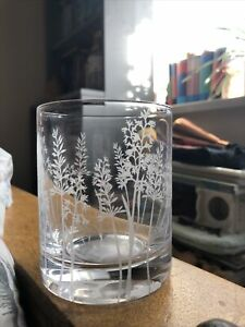 Wild Flower Glass Tealight Candle Holder