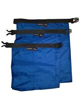 Dark Blue 3pcs waterproof dry storage sack bag Canoe Boating Floating Camping