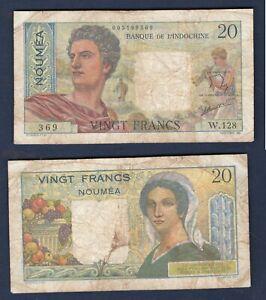Indochine - Nouméa 20 Francs W.128 369 TB+ Banque de L'indochine Type 1951