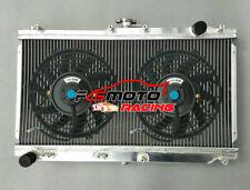 Alu Radiator + Fan For Mazda Miata NB MX5 MX-5 MK2 1.6L/1.8L B6/BP MT 1999-2005