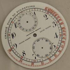 Ulysse Nardin Medical Chronograph pocket watch enamel dial 49 mm. in diameter