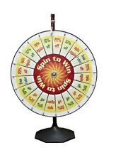 "36"" Spin to Win Clicker 20 Pocket Insert Pro Prize Wheel / Tradeshow Carnival"