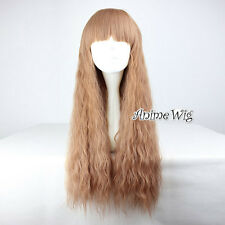 70CM Lolita Light Brown Long Curly Daily Gothic Cosplay Wig Heat Resistant Hair