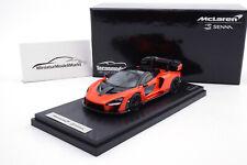 #T43-EX09C - Tecnomodel McLaren Senna - Mira Orange - 2018 - 1:43