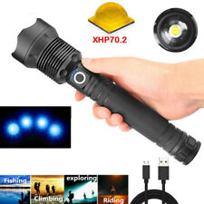 900000LM XHP70.2 LED USB Rechargeable High Powerful Torch Flashlight Lamps Light