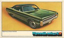 1970 Plymouth Sport Fury Automobile Advertising Postcard