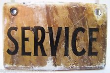 Old Industrial Factory Porcelain Sign 'SERVICE' white black enamel equipment adv