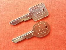 2 GM ORIGINAL CHEVY BUICK PONTIAC OLDSMOBILE NOS KEY BLANKS 1970 1974 1978 1982